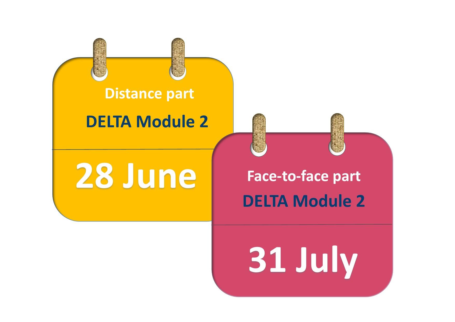 DELTA Module 2 course 2018