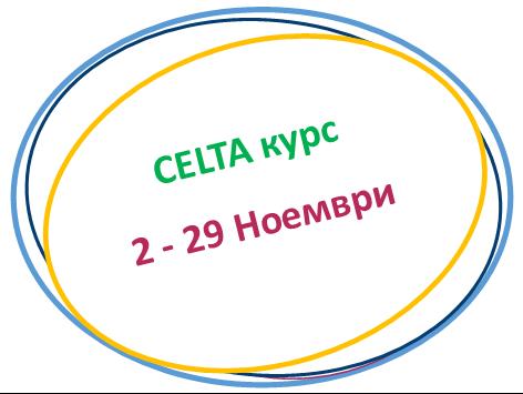 CELTA курс Ноември 2018